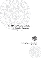 EMMA - a quarterly model of the Estonian economy (Eesti Panga toimetised / Working Papers of Eesti Pank ; 12)