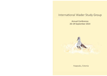 International Wader Study Group : annual conference 26-29 September 2014 : Haapsalu, Estonia