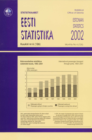 Eesti Statistika Kuukiri = Monthly Bulletin of Estonian Statistics ; 6(126) 2002-07