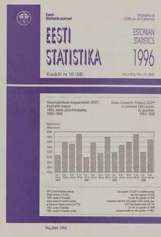 Eesti Statistika Kuukiri = Monthly Bulletin of Estonian Statistics ; 10(58) 1996-11