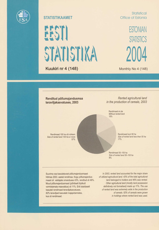 Eesti Statistika Kuukiri = Monthly Bulletin of Estonian Statistics ; 4(148) 2004-05