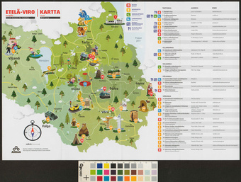 Etela Viro Perheille Kartta South Estonia For Families Map