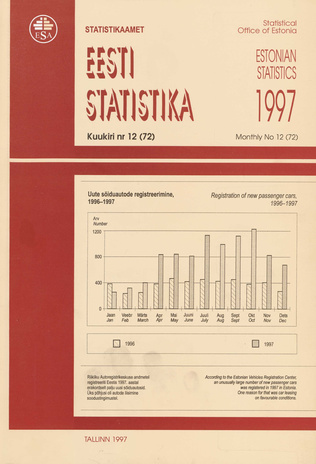 Eesti Statistika Kuukiri = Monthly Bulletin of Estonian Statistics ; 12(72) 1998-01