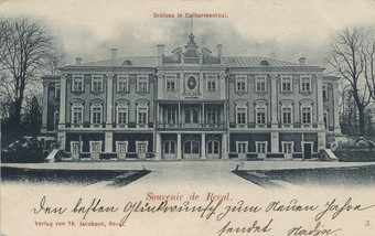 Souvenir de Reval : Schloss in Catharinenthal