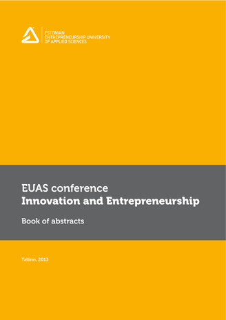 Innovation and entrepreneurship: new ways of thinking : EUAS conference : book of abstracts