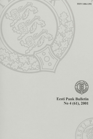 Eesti Pank (Bank of Estonia) : bulletin ; 4 (61) 2001