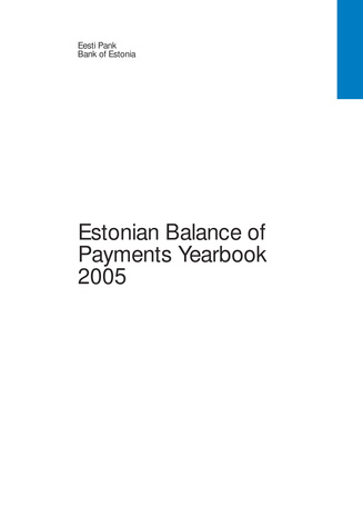 Estonian balance of payments yearbook ; 2005