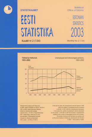 Eesti Statistika Kuukiri = Monthly Bulletin of Estonian Statistics ; 2(134) 2003-03