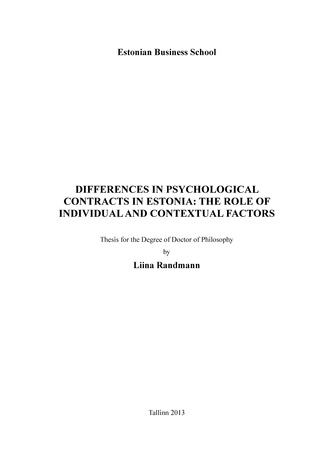 Analysis Of The Psychological Contract Between Employers And Employees - Dissertation Example