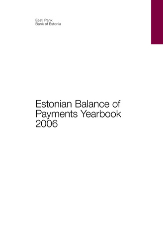 Estonian balance of payments yearbook ; 2006