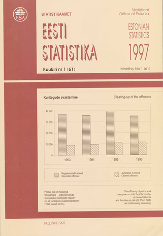 Eesti Statistika Kuukiri = Monthly Bulletin of Estonian Statistics ; 1(61) 1997-02