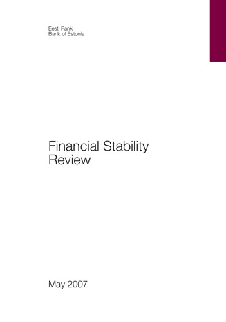 Financial stability review ; may/november 2007