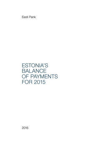 Estonia's balance of payments yearbook ; 2015