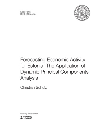 Forecasting economic activity for Estonia: the application of