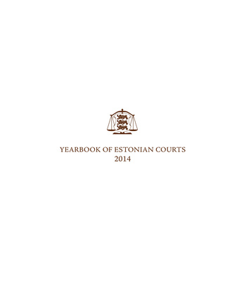 Yearbook of Estonian courts ; 2014