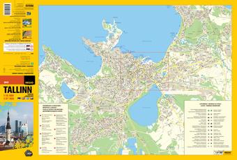 Tallinn turismikaart tourist map matkailun kartta