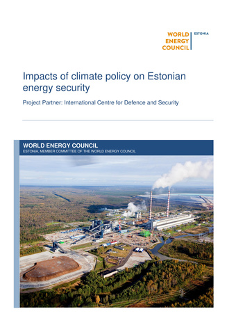 Impacts of climate policy on Estonian energy security