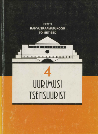 Uurimusi tsensuurist = Papers on censorship