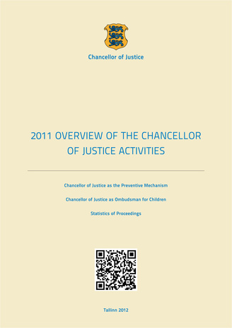 Overview of the Chancellor of Justice activities ; 2011