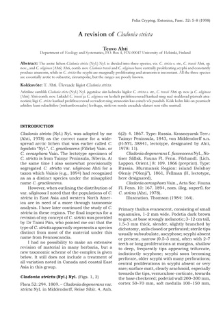 f8d64f7452c Lichens in Estonia and in the rest of the world : papers dedicated to Hans  Trass