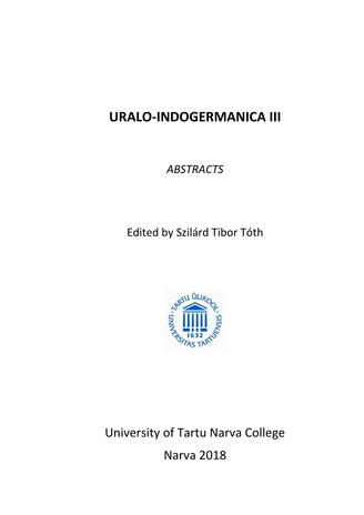 Uralo-indogermanica. III : abstracts