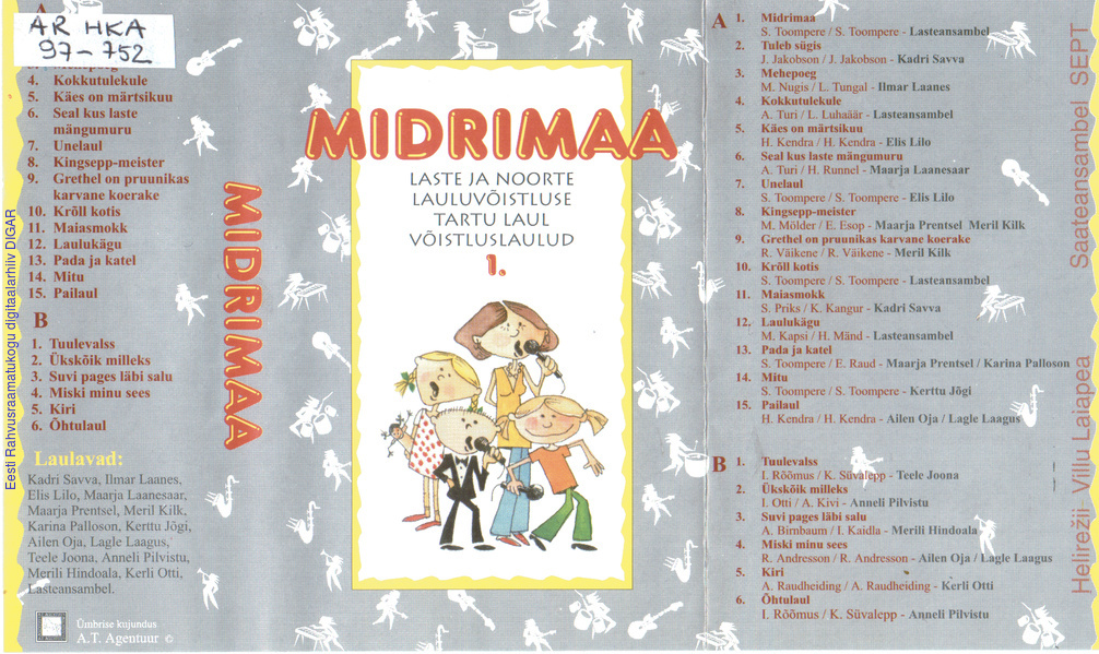 a8a3a8501dc Midrimaa : Laste ja noorte lauluvõistluse Tartu laul võistluslaulud.    Digar viewer