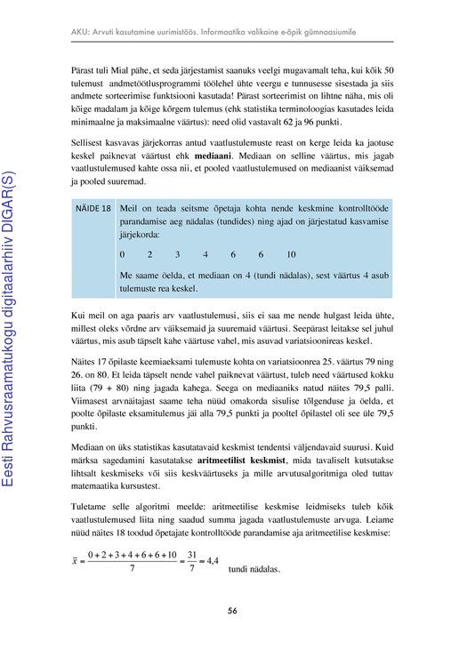 e89cdd30627 Arvuti kasutamine uurimistöös : informaatika valikaine e-õpik gümnaasiumile  | Digar viewer