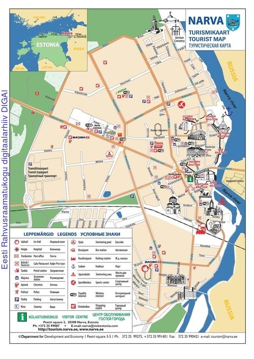 Narva turismikaart tourist map 2013