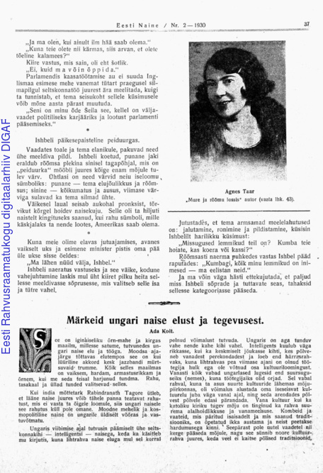 d996537137d Eesti Naine : naiste ja kodude ajakiri ; 2 (69) 1930-02   Digar viewer